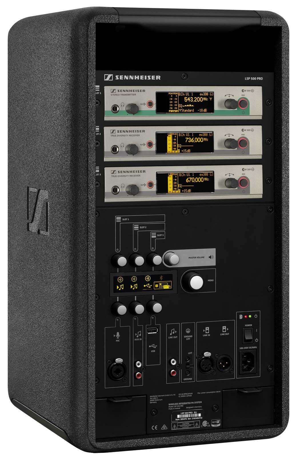 Sennheiser Lsp 500 Pro Self Powered Pa System Fac365 Ltd