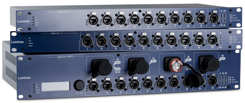 Luminex GigaCore switches for Soundgrid Networking