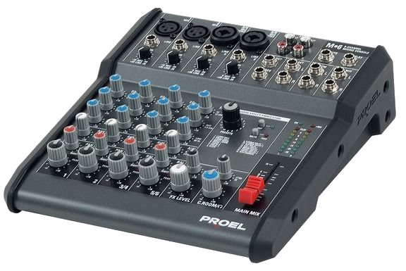 Proel M6 m Series 6 Channel Mixer
