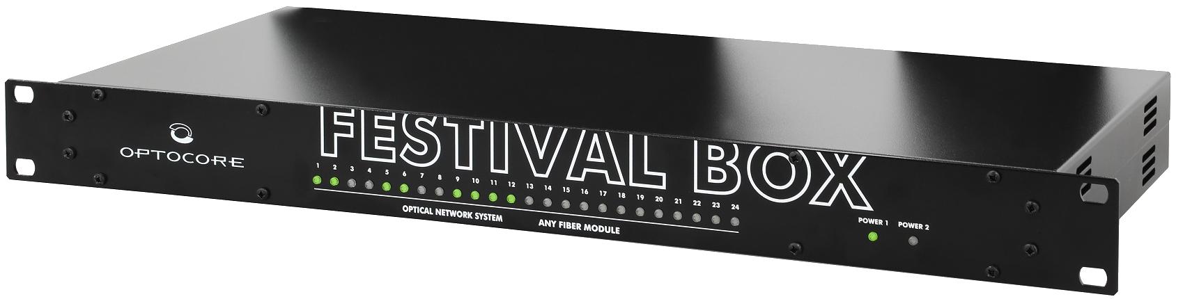 INSTANT BREAKTHROUGH FOR OPTOCORE'S REVOLUTIONARY FESTIVAL BOX